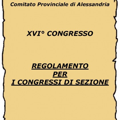 regolamento per i congressi di sezione