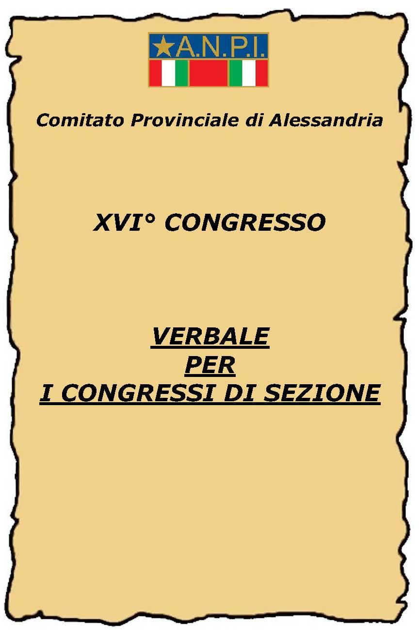 verbale congressi di sezione