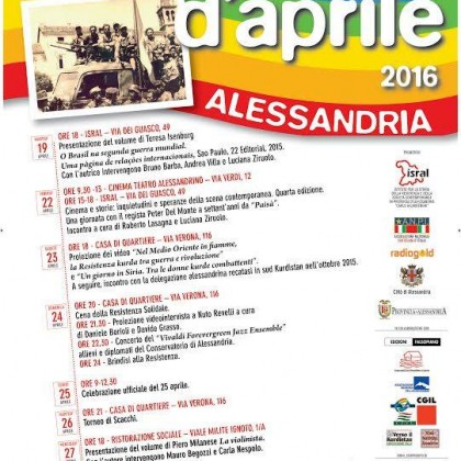 Festa d'aprile 2016 ad Alessandria