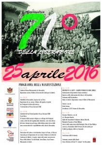 25 aprile 2016 71° della Liberazione