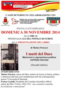 I MATTI DEL DUCE-30 novembre 2014