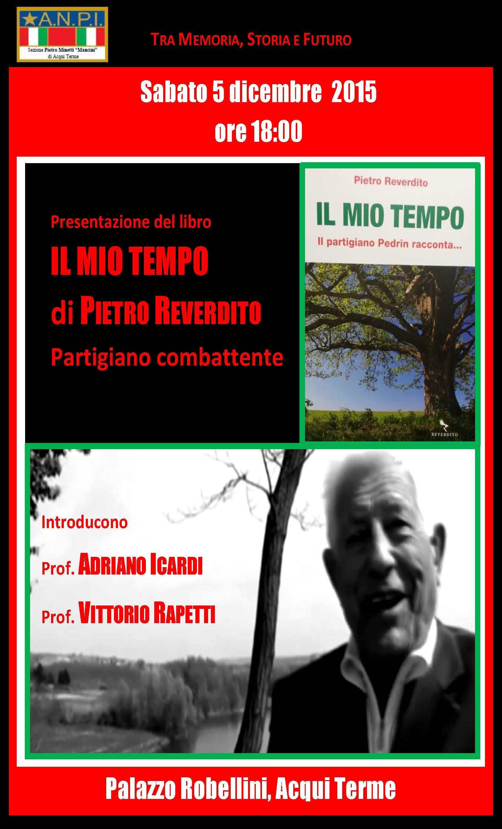 """Presentazione de """"Il mio tempo"""" di Pietro Reverdito"""