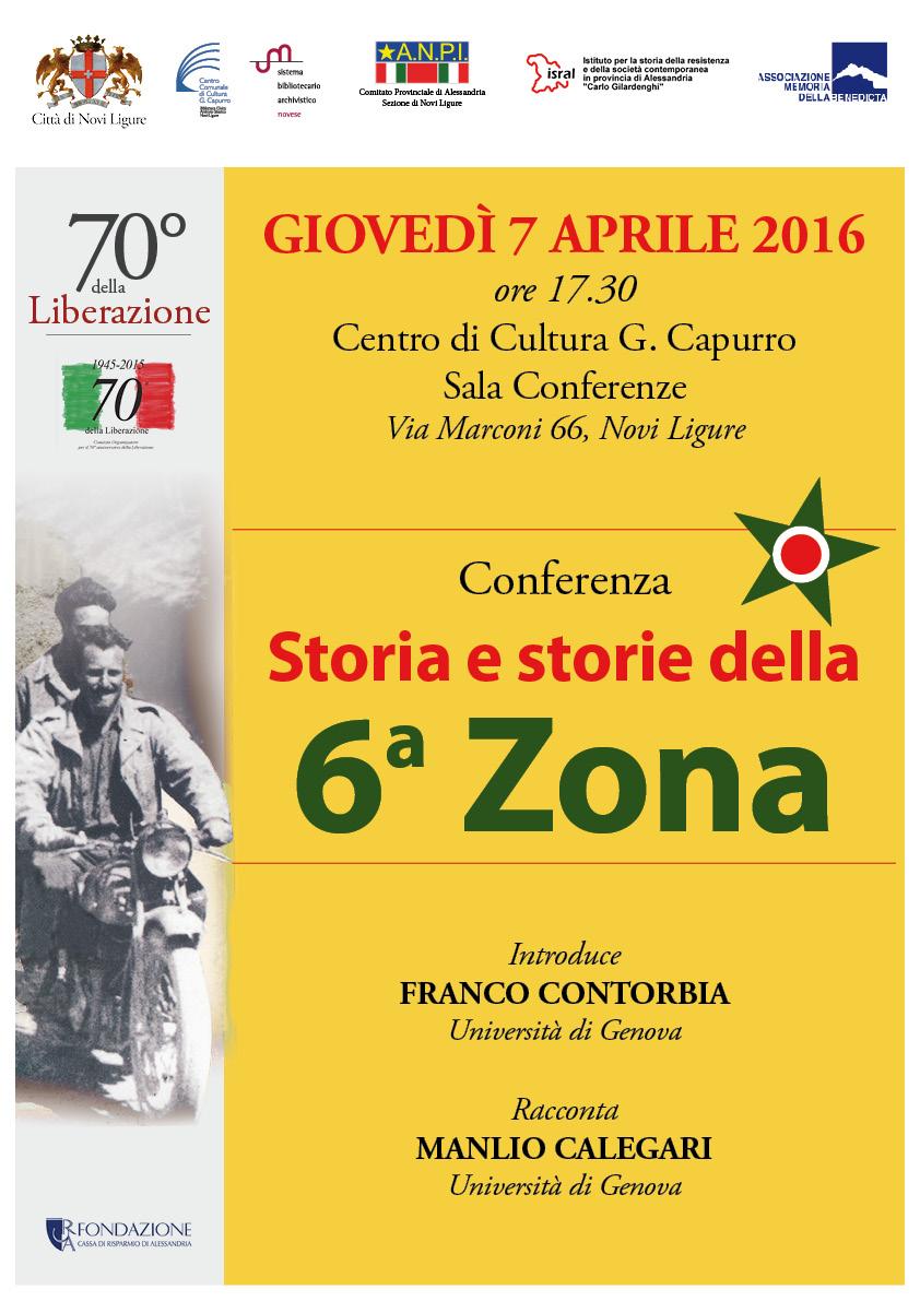 storia e storie della 6^ zona                      Novi Ligure, giovedì 7 aprile