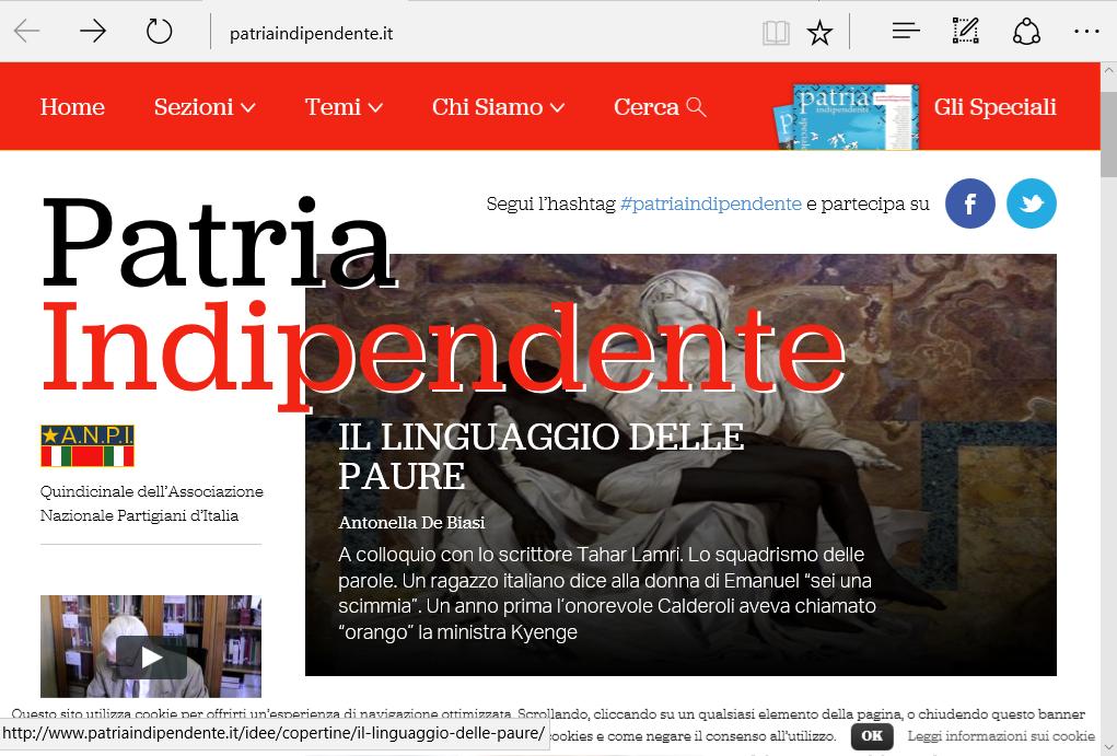 Patria Indipendente: nuovo numero online