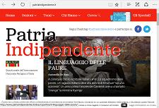 Newsletter n. 49 Patria Indipendente del 12 settembre 2018