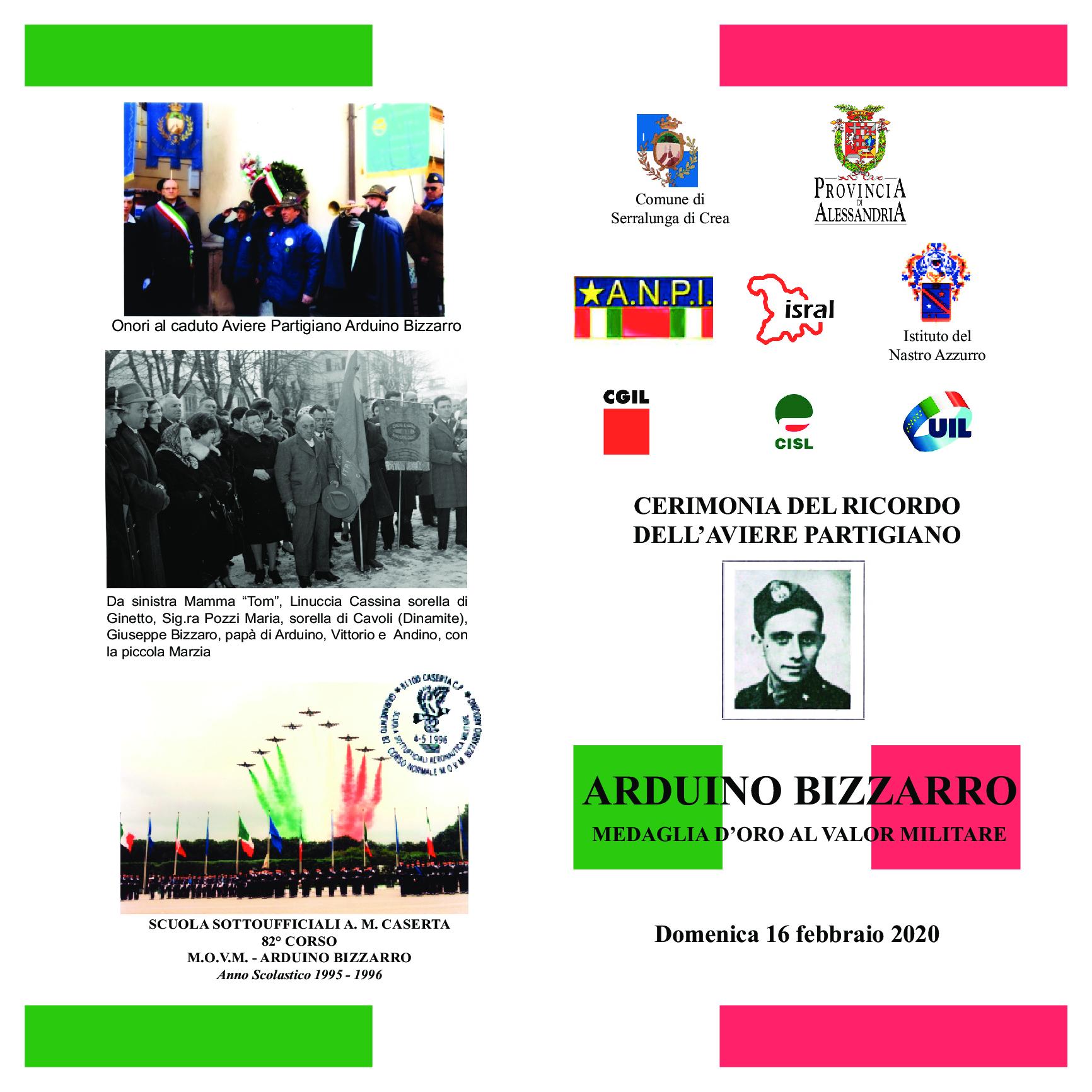 Commemorazione Arduino Bizzarro: Aviere, Partigiano e Medaglia d'Oro